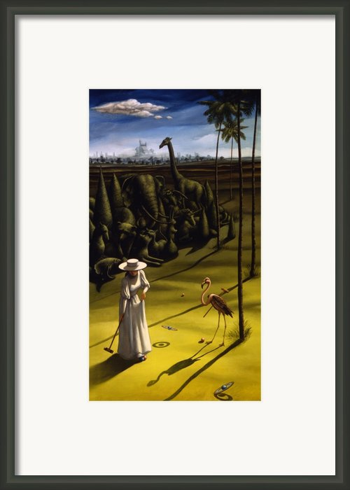Croquet Framed Print By Jane Whiting Chrzanoska