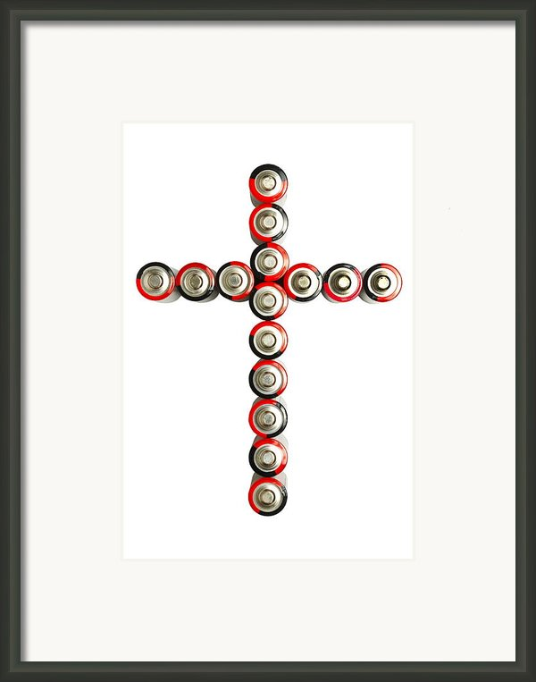 Cross Batteries 1 B Framed Print By John Brueske