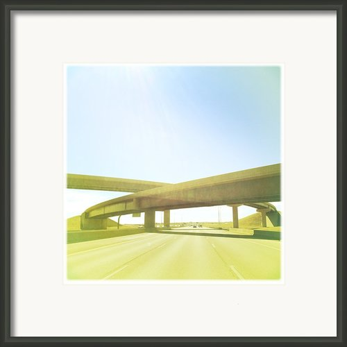 Cross Bridge Over Road Framed Print By A L Christensen