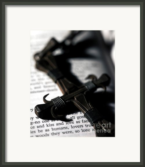Cross On A Book Framed Print By Fabrizio Troiani