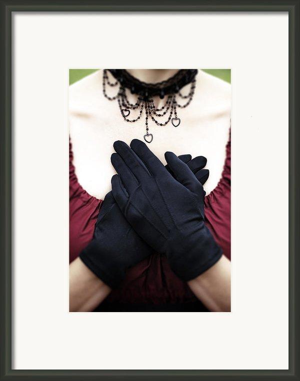 Crossed Hands Framed Print By Joana Kruse