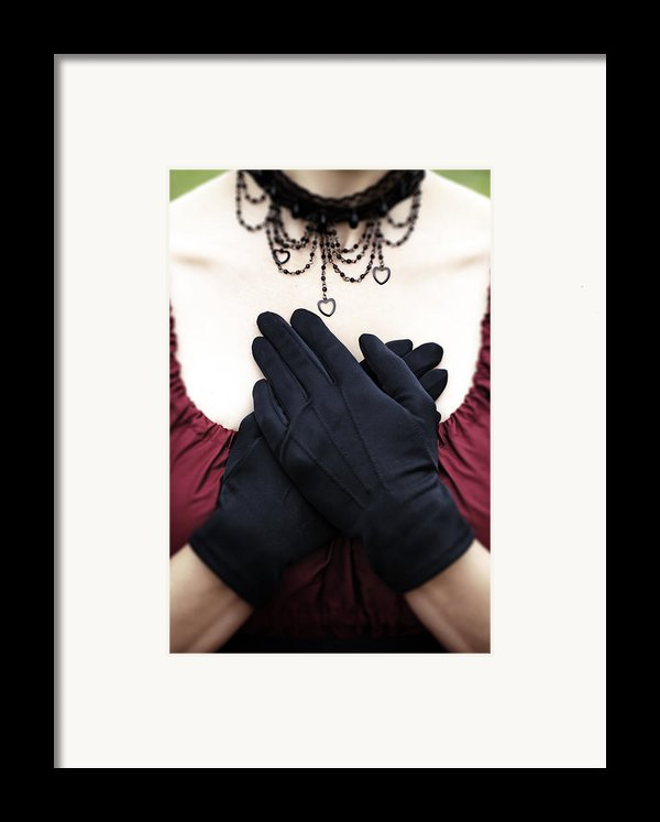 Crossed Hands Framed Print By Joana Kruse
