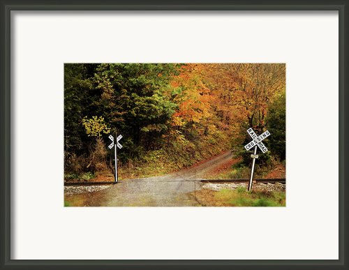 Crossing Into Fall Framed Print By Kathy Jennings