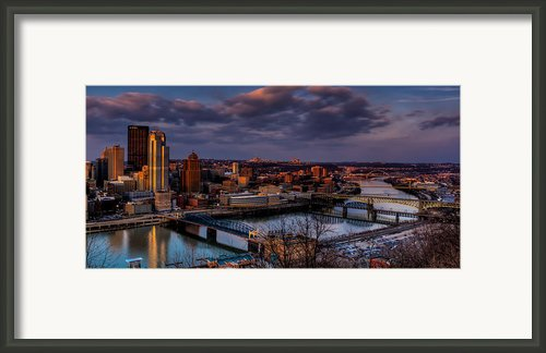 Crossing The Monongahela Framed Print By David Hahn