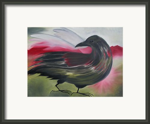 Crow Framed Print By Karen Mackenzie