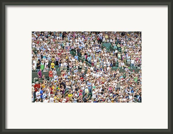 Crowd Of People Framed Print By Carlos Dominguez