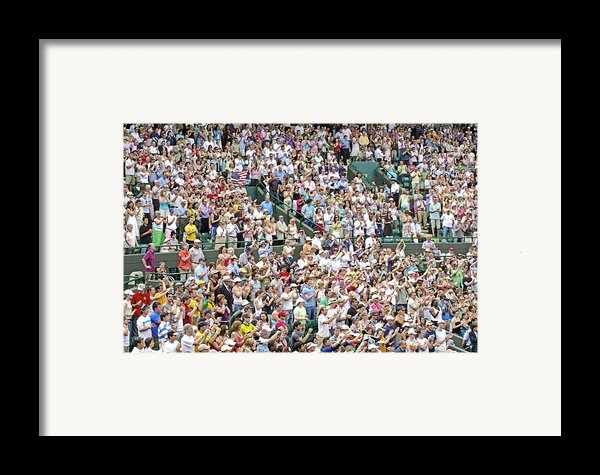 Crowd Of People Framed Print By Carlos Dominguez