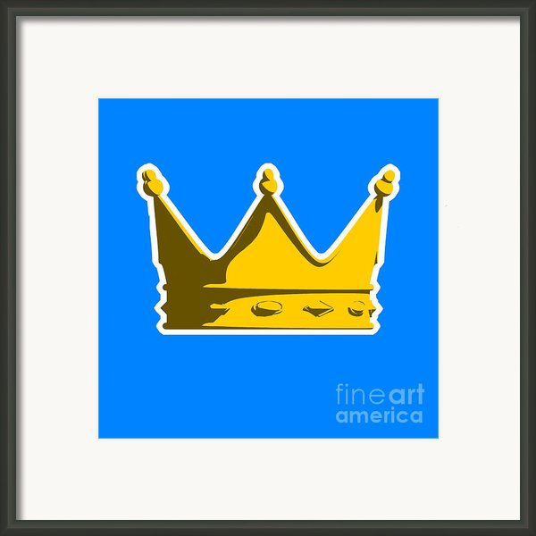 Crown Graphic Design Framed Print By Pixel Chimp
