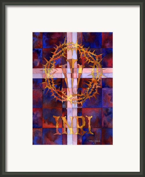 Crown Of Thorns Framed Print By Mark Jennings