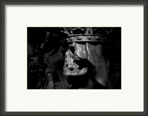 Crowned Death Ii Framed Print By Marc Huebner