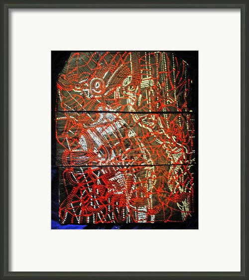 Crucifixion - Tile Framed Print By Gloria Ssali