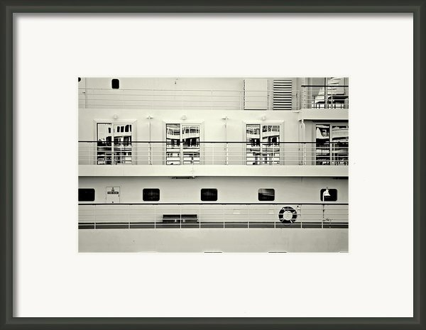 Cruise Reflections Framed Print By Dean Harte