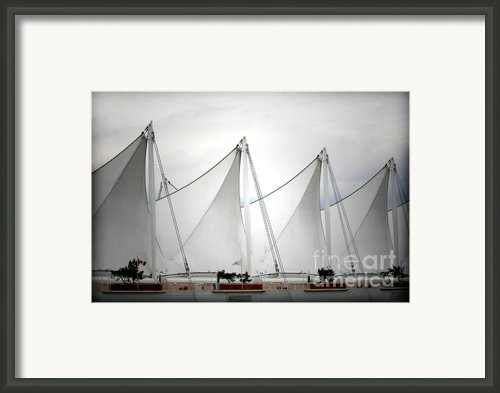 Cruise Ship Terminal Vancouver Canada Framed Print By Christine Till