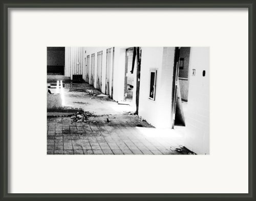 Crumbling Cafeteria Framed Print By Christopher Kulfan