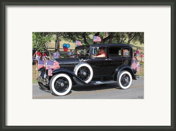Crusin On The 4th Framed Print By Kurt Gustafson