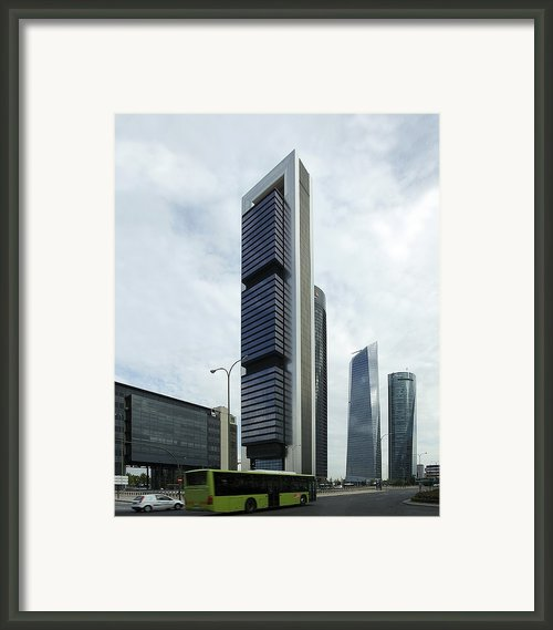 Ctba Skyscrapers, Madrid Framed Print By Carlos Dominguez