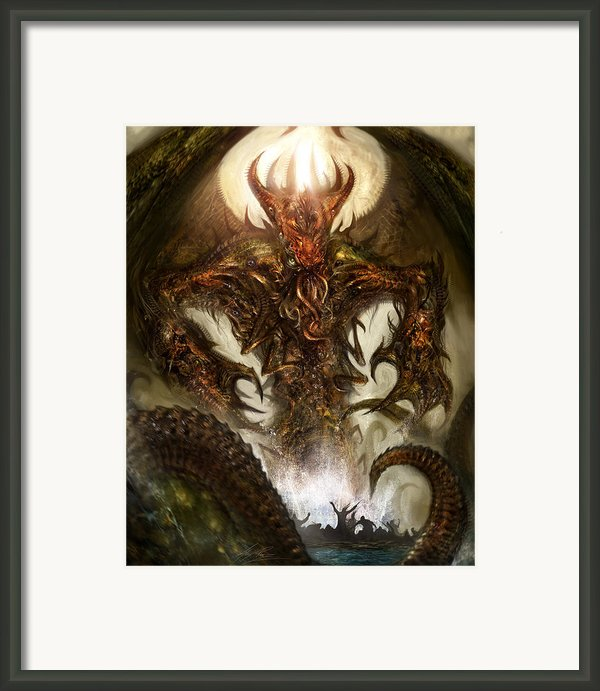 Cthulhu Rising Framed Print By Alex Ruiz