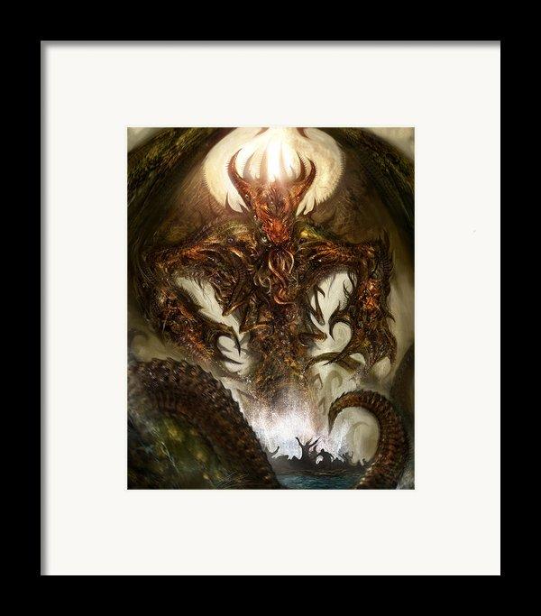 Cthulhu Rising Framed Print By Alex Ruiz