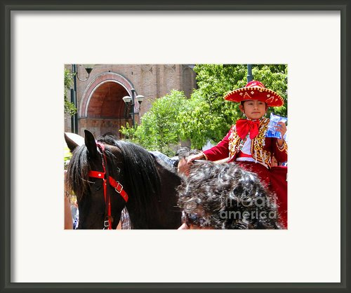 Cuenca Kids 106 Framed Print By Al Bourassa