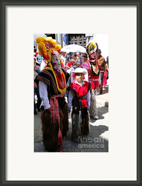 Cuenca Kids 156 Framed Print By Al Bourassa