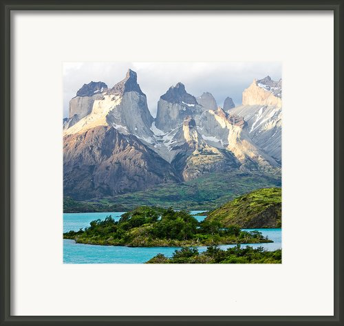 Cuernos Del Paine - Patagonia Framed Print By Carl Amoth