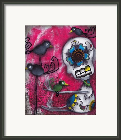 Cuervos Framed Print By  Abril Andrade Griffith