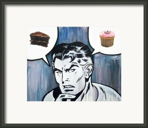 Cupcake Vs. Cake Framed Print By Ryan Jones
