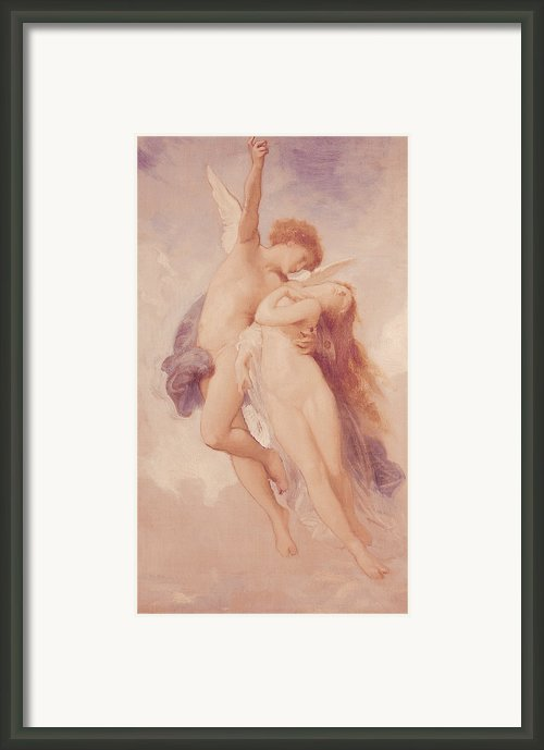 Cupid And Psyche Framed Print By William Adolphe Bouguereau