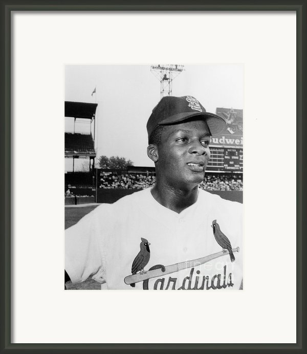Curt Flood (1938- ) Framed Print By Granger