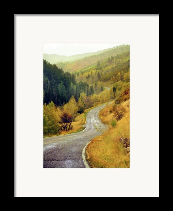 Curve Mountain Road With Autumn Trees Framed Print By Utah-based Photographer Ryan Houston