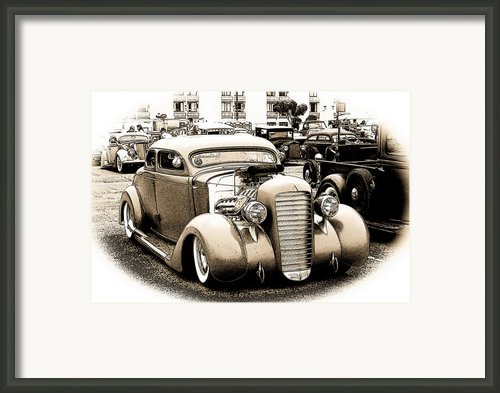 Custom 35 Ford Framed Print By Steve Mckinzie