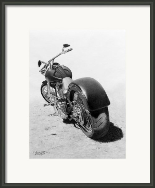 Custom Chopper Framed Print By Tim Dangaran