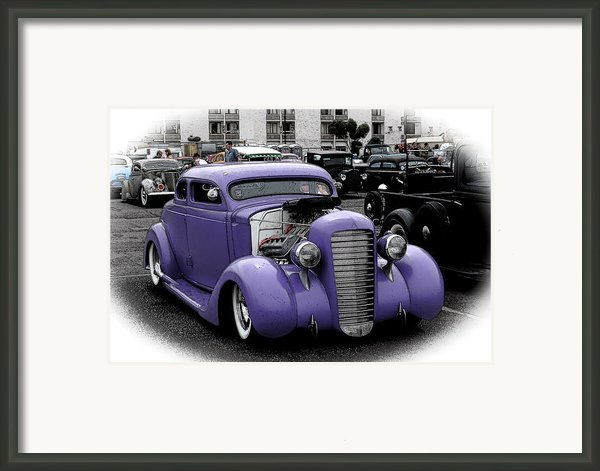 Custom Purple 35 Ford Framed Print By Steve Mckinzie