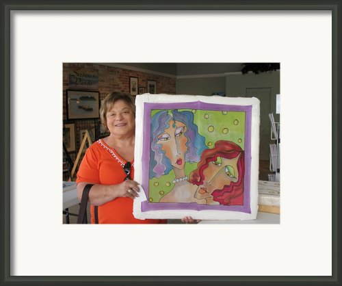 Custom Work Framed Print By Yvonne Feavearyear