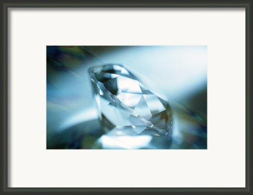 Cut Diamond Framed Print By Pasieka