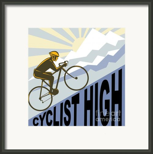 Cyclist Racing Bike Framed Print By Aloysius Patrimonio