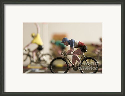Cyclists. Figurines. Symbolic Image Tour De France Framed Print By Bernard Jaubert