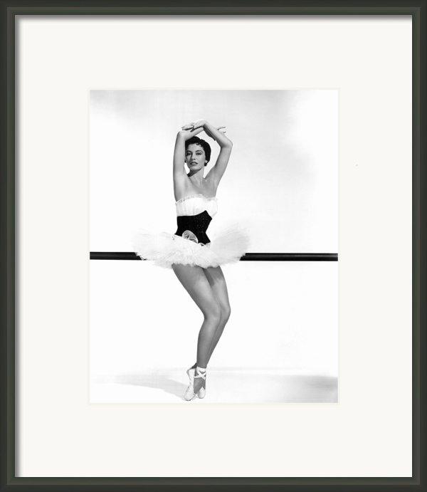 Cyd Charisse, 1955 Framed Print By Everett