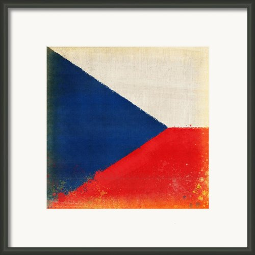 Czech Republic Flag Framed Print By Setsiri Silapasuwanchai