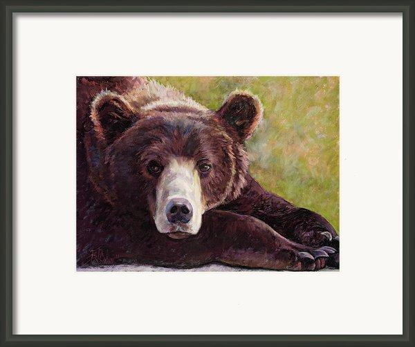 Da Bear Framed Print By Billie Colson