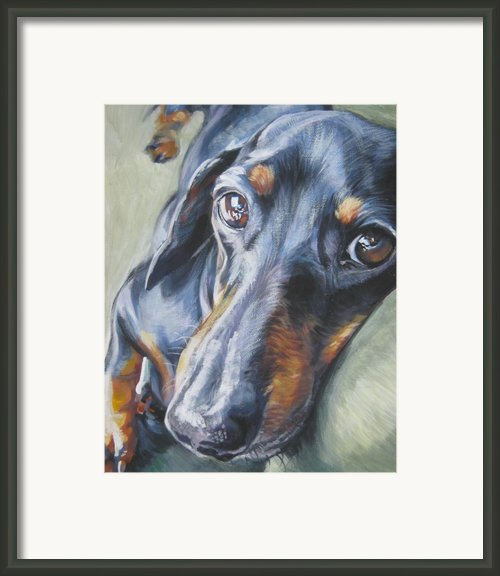 Dachshund Black And Tan Framed Print By L A Shepard