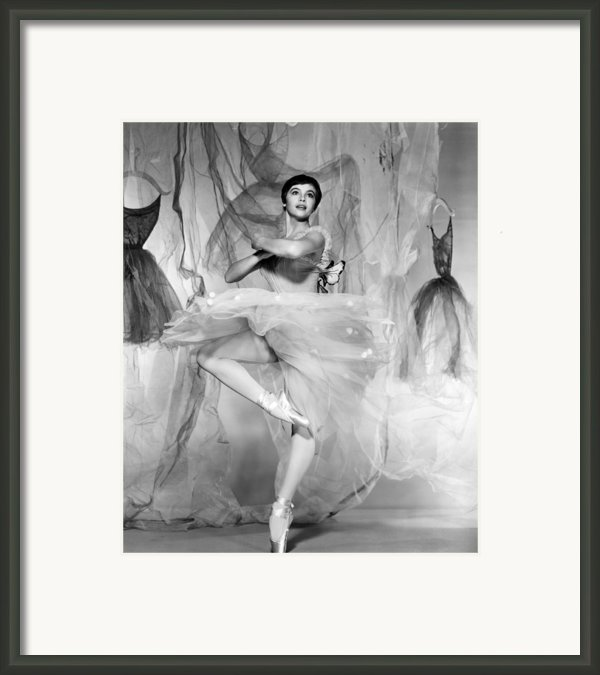 Daddy Long Legs, Leslie Caron, 1955 Framed Print By Everett