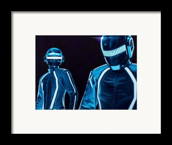 Daft Punk Framed Print By Ellen Patton