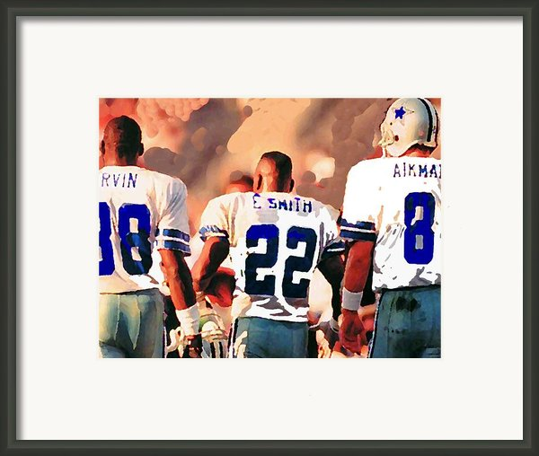 Dallas Cowboys Triplets Framed Print By Paul Van Scott