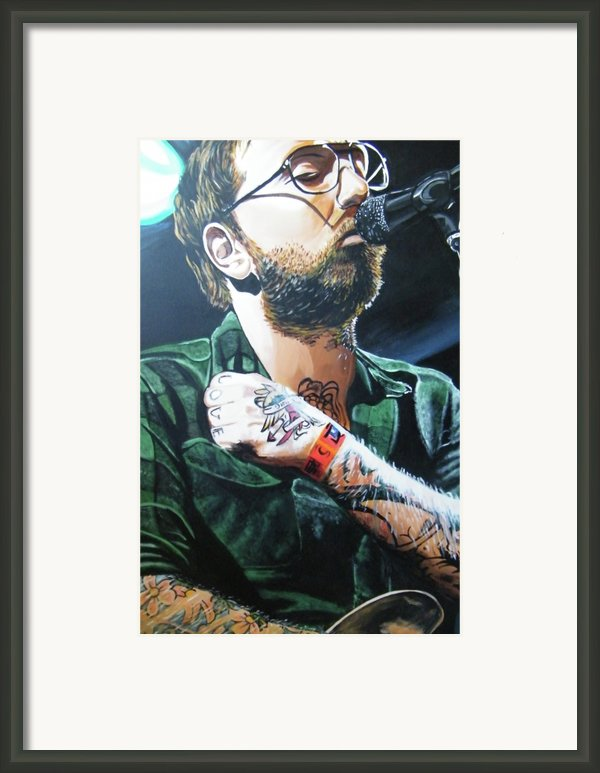 Dallas Green Framed Print By Aaron Joseph Gutierrez