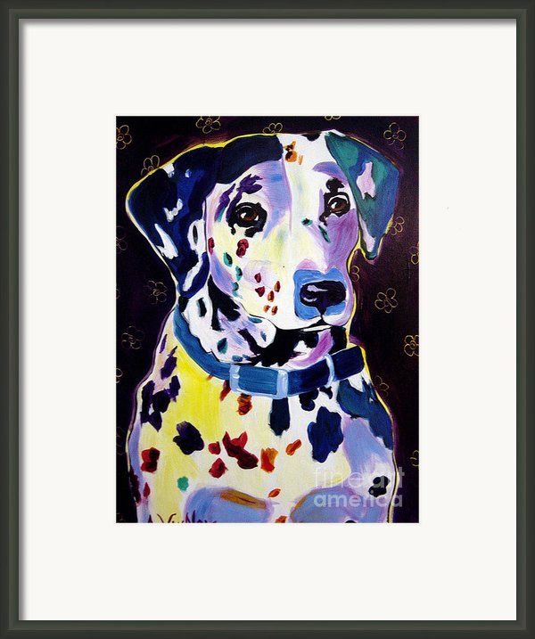 Dalmatian - Dottie Framed Print By Alicia Vannoy Call