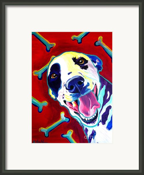 Dalmatian - Yum Framed Print By Alicia Vannoy Call