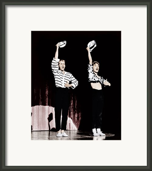 Damn Yankees, From Left Bob Fosse, Gwen Framed Print By Everett