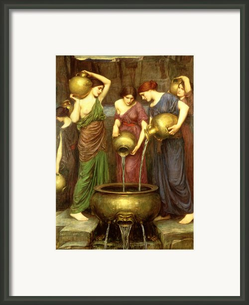 Danaides Framed Print By John William Waterhouse