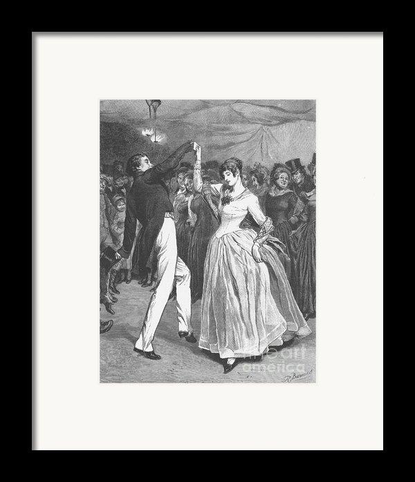 Dance, 19th Century Framed Print By Granger